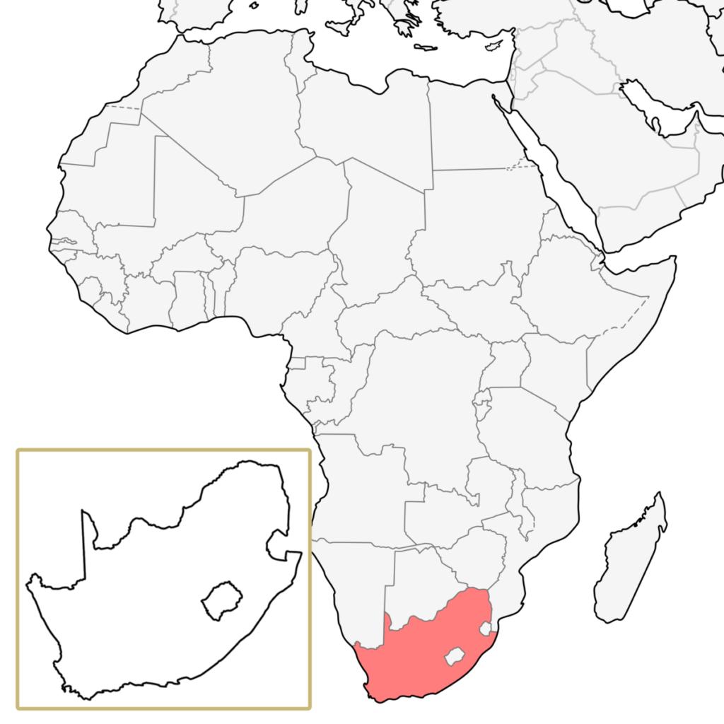 南アフリカ アフリカ 地図