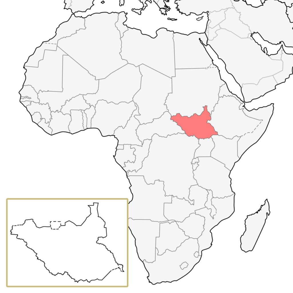 南スーダン アフリカ 地図