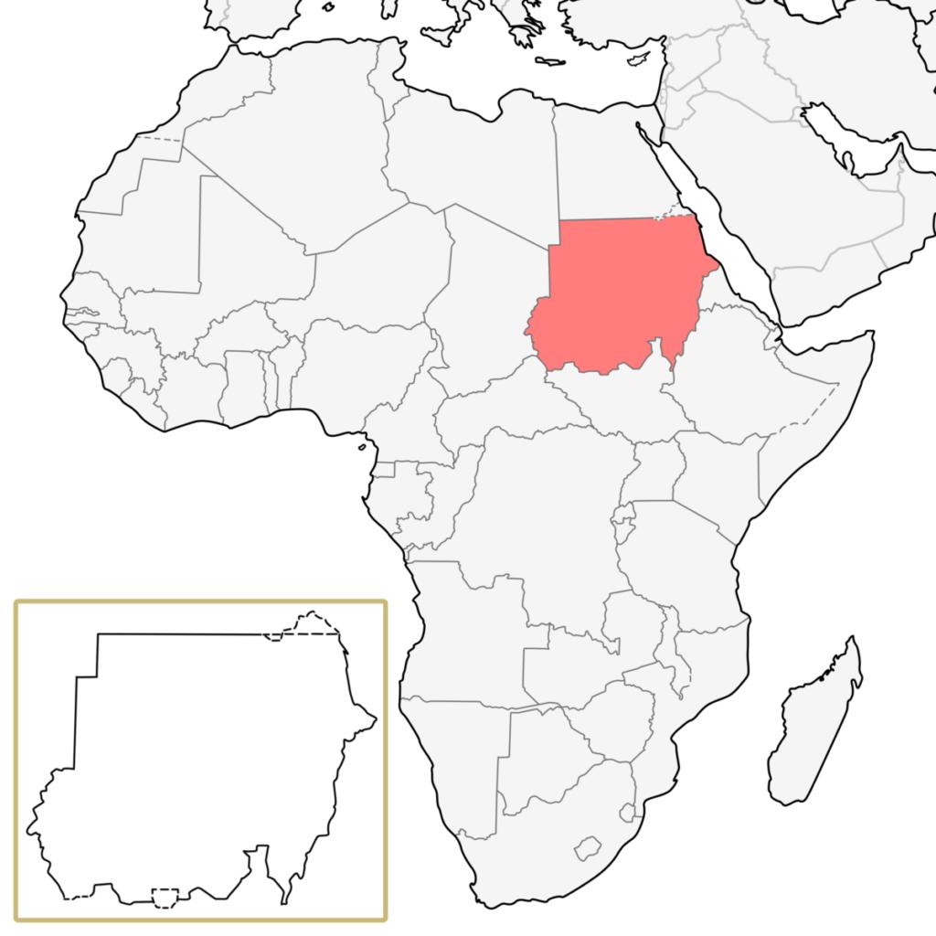 スーダン アフリカ 地図