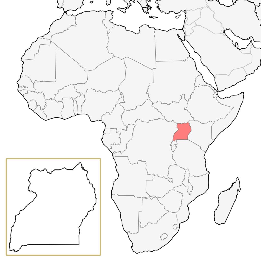 アフリカ ウガンダ 地図