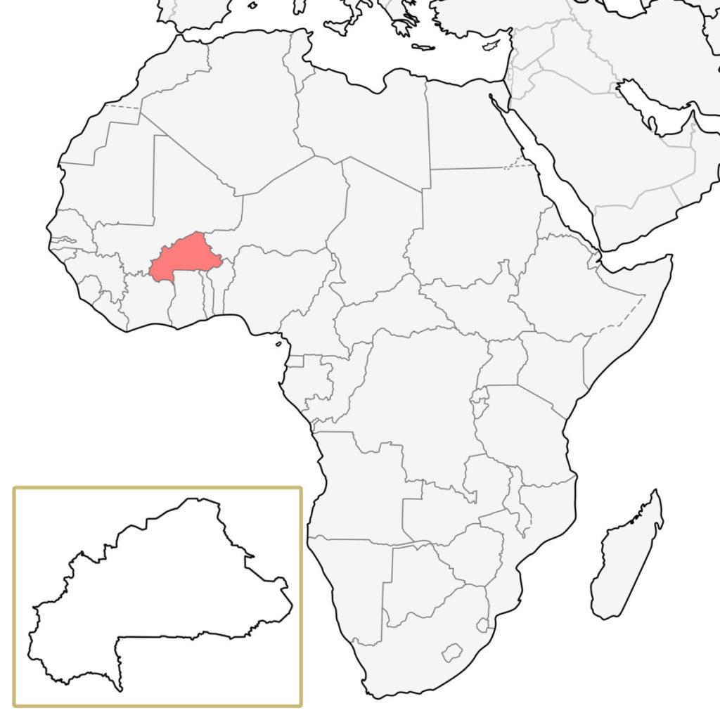 ブルキナファソ アフリカ 地図