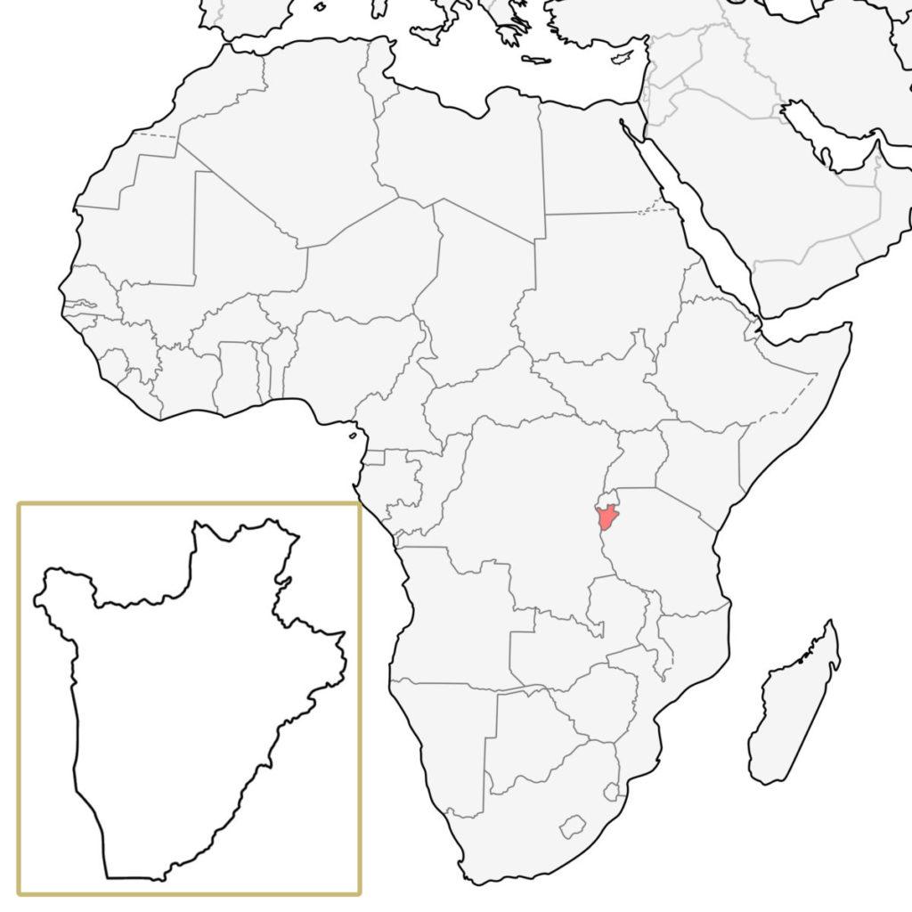 ブルンジ アフリカ 地図