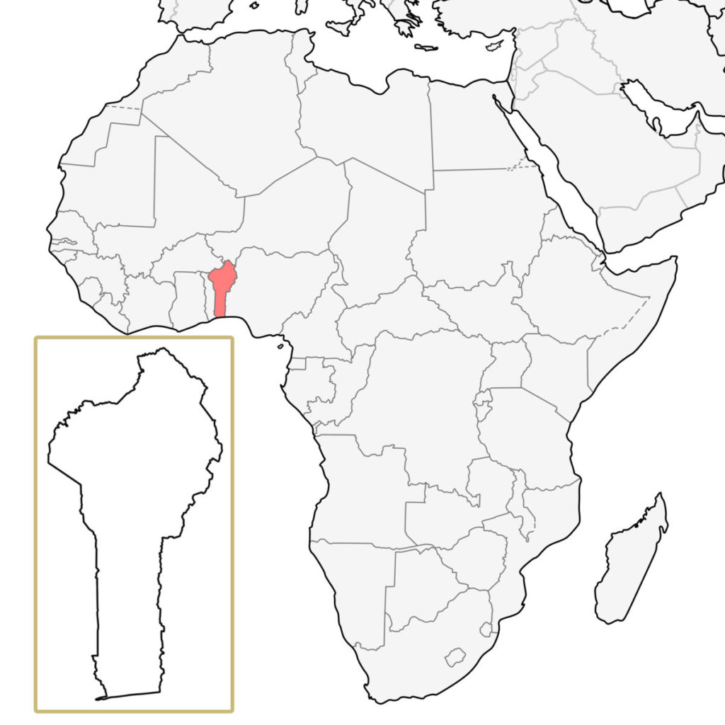 ベナン アフリカ 地図