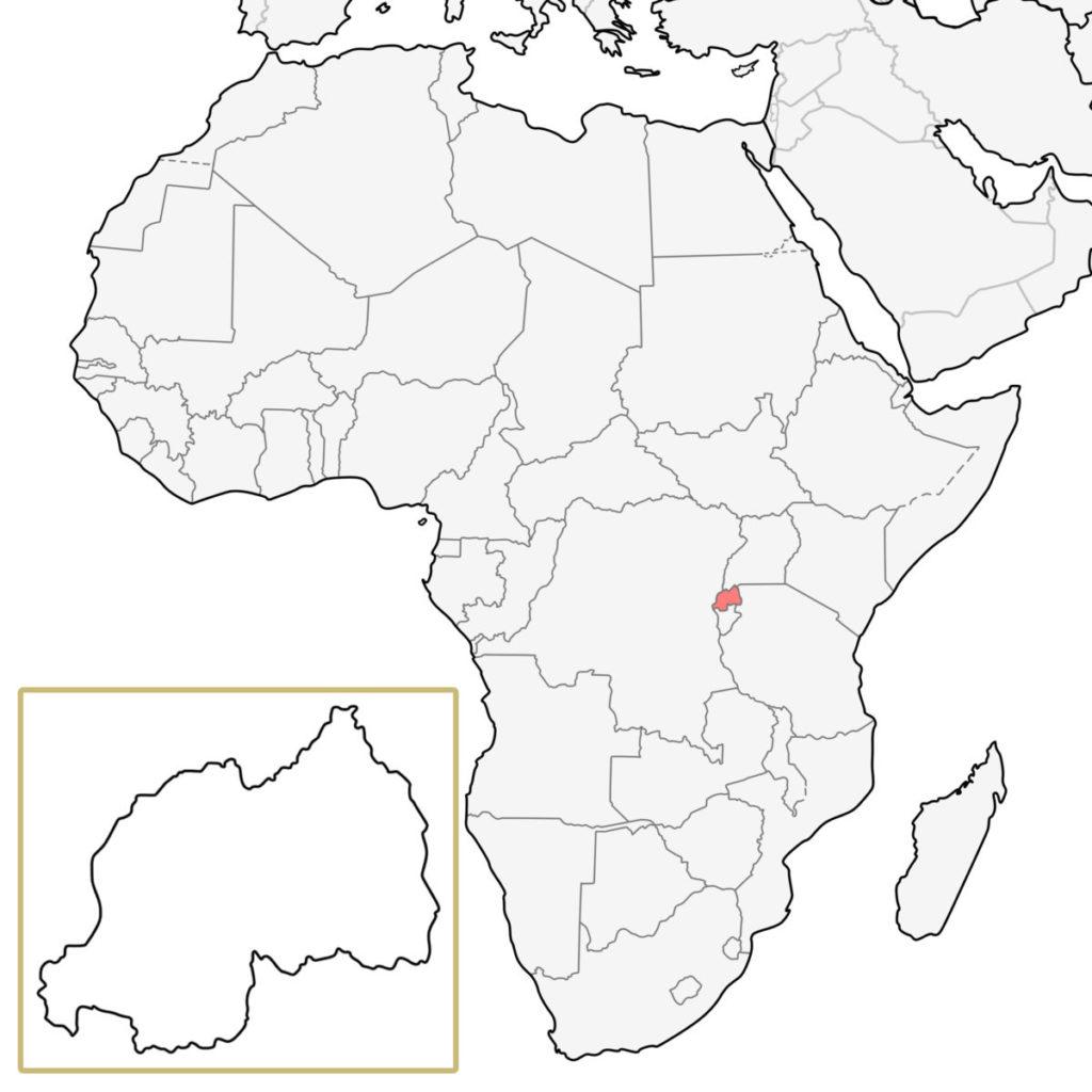 ルワンダ アフリカ 地図