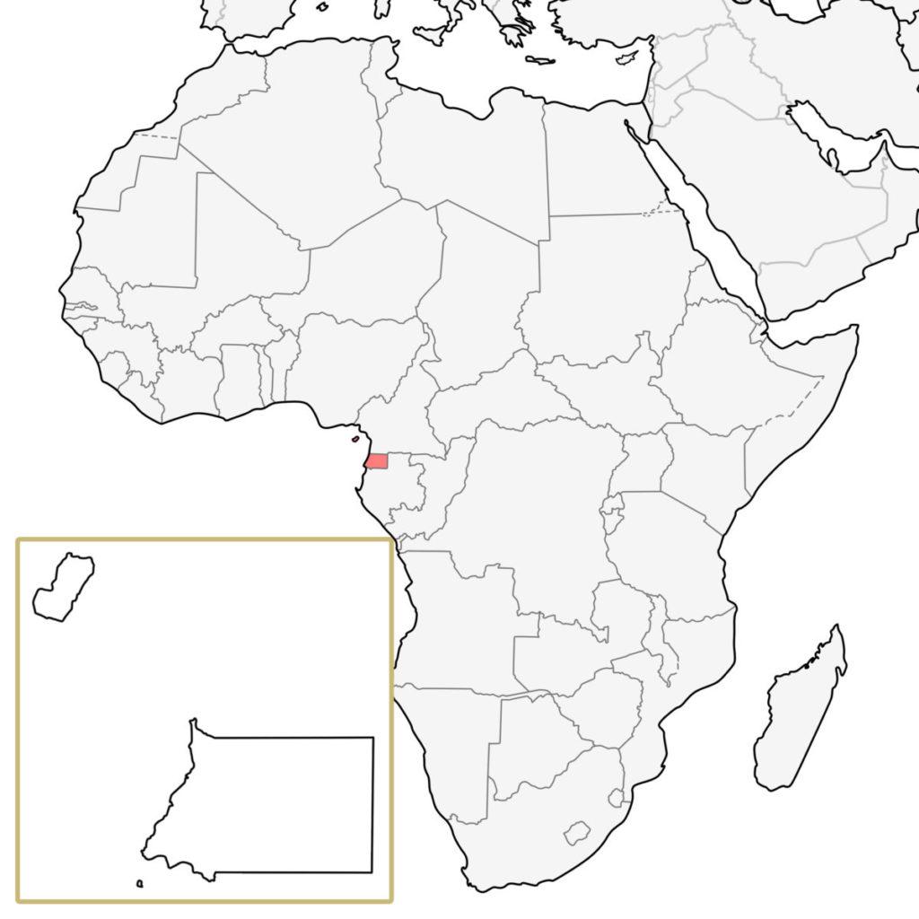 赤道ギニア アフリカ 地図