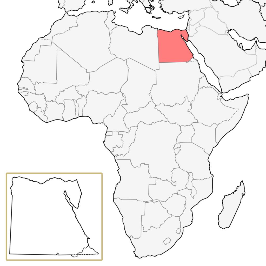 アフリカ エジプト 地図
