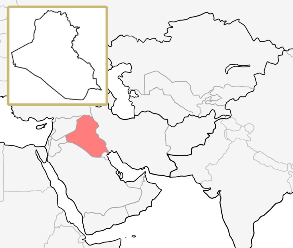 中東 イラク 地図