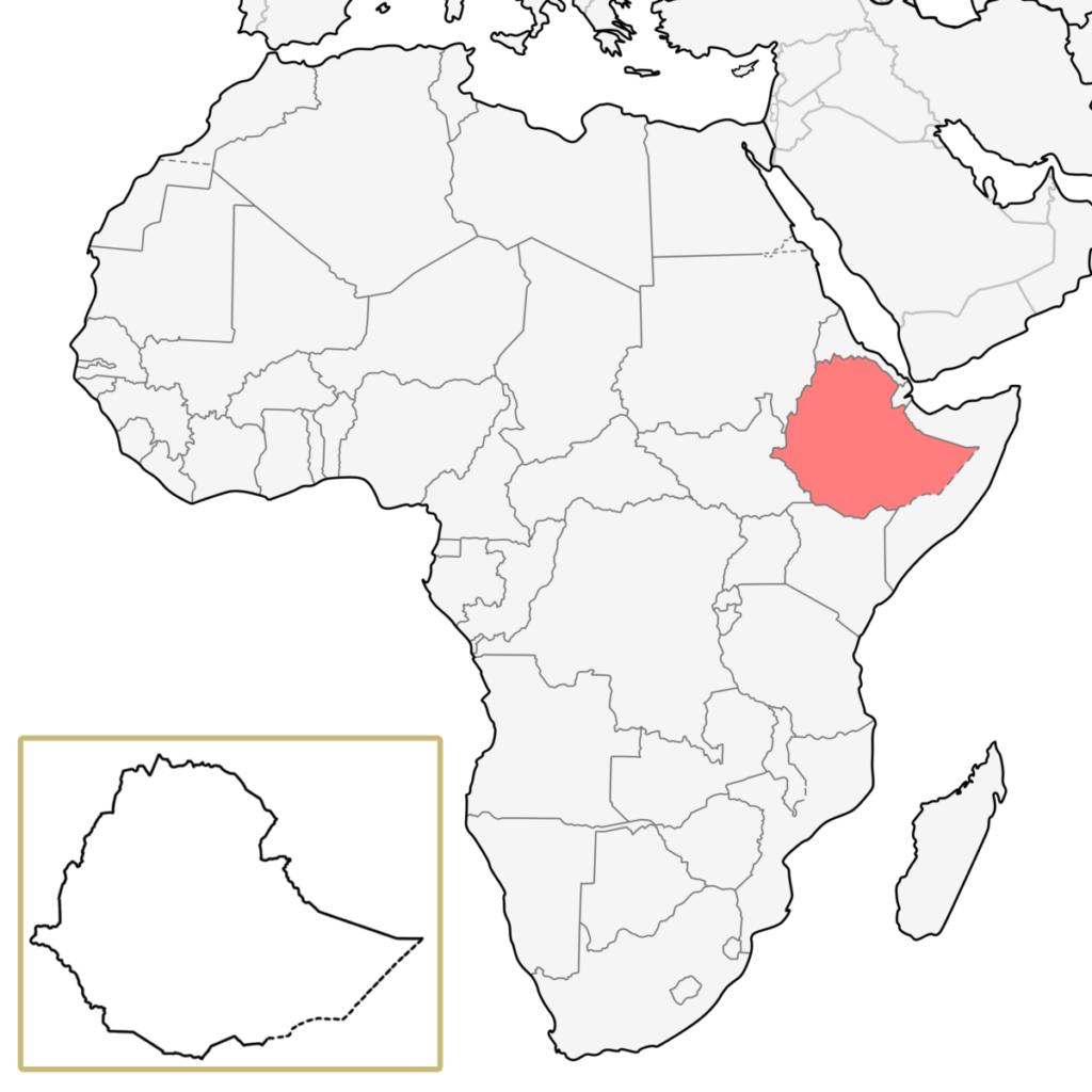 エチオピア アフリカ 地図