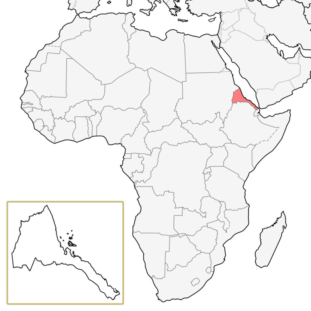 エリトリア アフリカ 地図