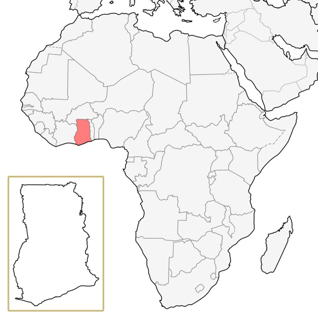ガーナ アフリカ 地図