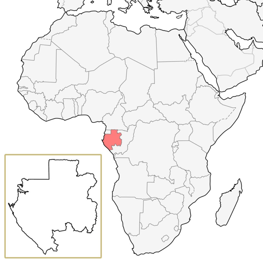 ガボン アフリカ 地図