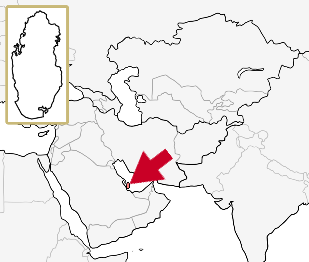 中東 カタール 地図
