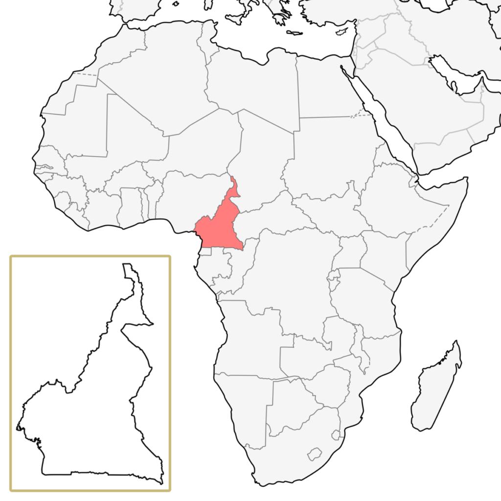 カメルーン アフリカ 地図