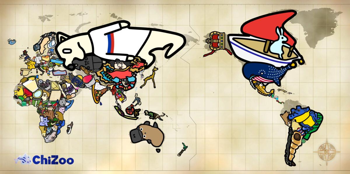 世界 世界地図 地図 覚え方 Chizoo